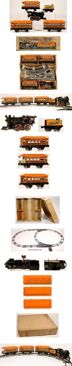 c.1927 American Flyer, 5pc. Clockwork Train Set in Original Box