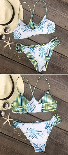 Ready to make heads turn? Wear this stunning two piece on your next pool party and everyone will be wondering where you got it. Lightweight and fresh swimsuit is the answer to this stylish season!