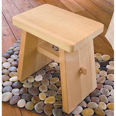 wooden bathroom stool - Google Search