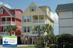 Dunes Realty offers Garden City Beach & Surfside Beach rentals in the Myrtle Beach area. Browse Garden City rentals & Surfside Beach vacation rentals now! Myrtle Beach Vacation Rentals, Vacation Home Rentals, Vacation Ideas, Beach Cottage Exterior, Beach Cottage Decor, Garden City Beach, Beach Gardens, April Vacation, Surfside Beach