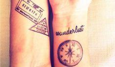 Schöne Tattoovorlagen für Weltenbummler. Tattoo Nr. 9 ist mein absoluter Favorit!