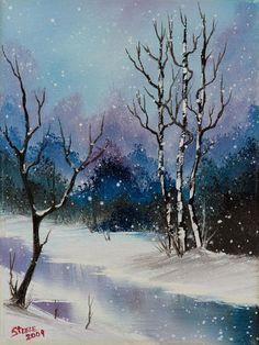 bob ross snow fall magic ii 86138 painting - bob ross snow fall ...