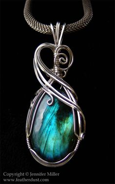 Stunning ~ 'Blue Butterfly Wing Labradorite' by Nambroth. Artist Comment ~ This Is A Labradorite Carefully Hand Wrapped In Argentium Sterling Silver Wire Jewelry Designs, Jewelry Crafts, Jewelry Art, Jewelry Accessories, Wire Pendant, Pendant Jewelry, Soldered Pendants, Pendant Necklace, Labradorite Jewelry
