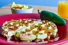 Bacon Jalapeño Gluten-free Waffle #fitmencook fitmencook.com