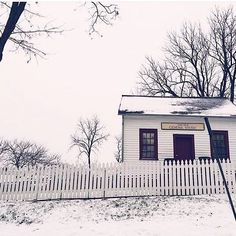 Waking up to white. ❄️ The old general store by Pres. Grant's home - captured by @zwalkk