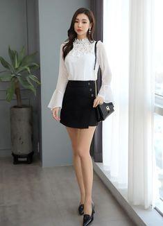 Korean Women`s Fashion Shopping Mall, Styleonme. Korean Fashion Trends, Korean Street Fashion, Asian Fashion, Korea Fashion, India Fashion, Fashion Models, Girl Fashion, Fashion Outfits, Womens Fashion