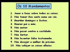 Os 10 Mandamentos de Deus
