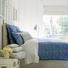 @Overstock - Christy of England Evelyn Petrol Blue Bed Linen Duvet Cover - Combine style and comfort with this elegant duvet cover in blue and white. The 100 percent cotton sateen construction is conveniently machine washable.   http://www.overstock.com/Bedding-Bath/Christy-of-England-Evelyn-Petrol-Blue-Bed-Linen-Duvet-Cover/9951528/product.html?CID=214117 $199.99