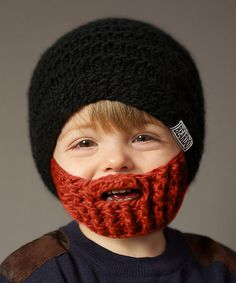 This looks like Chase!  You should get it.  It's a crack-up!  @Mandi Stephenson  Love this Black Beanie & Ginger Beard - Kids by Beardo on #zulily! #zulilyfinds