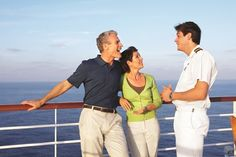 Couple on Princess Cruises cruise ship deck.