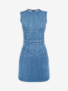 Shop Women's Denim Mini Dress from the official online store of iconic fashion designer Alexander McQueen.