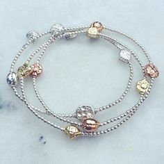 New arrivals! #silver #gold #rosegold single strands at www.goodcharma.com