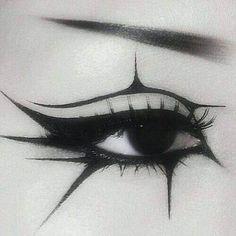 Gothic Augen Make-up. - make up - Make-up Eye Makeup Glitter, Artist Makeup, Edgy Makeup, Grunge Makeup, Eye Makeup Art, Cute Makeup, Pretty Makeup, Eyeliner Makeup, Black Eyeliner
