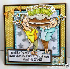 "Art Impressions Rubber Stamps: Challenge 133 - ""Best of Friends"" Challenge + 2014 GIRLFRIENDS Launch! Week 2!"