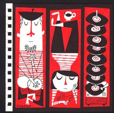the beatnik series derek yaniger Illustration Arte, Tiki Art, Jazz Art, Hipster Art, Retro Cartoons, Mid Century Art, Beatnik Style, Retro Art, Vintage Posters