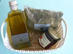 Gourmet Gift Basket,   # Greek herbs, #olive oil, #oregano, #jam, by VintageNatureGreece https://www.etsy.com/shop/VintageNatureGreece