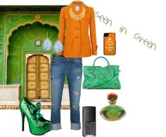 """Seen in Green"" by rhinestonesandrouge on Polyvore"
