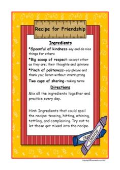 Friendship Forming Relationships Making Connections for Back to School - Dee Ann Moran - TeachersPayTeachers.com