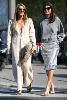 Pin for Later: The Best Street Style From All of Paris Fashion Week Paris Fashion Week, Day 6 Anna Dello Russo and Giovanna Battaglia. Street Style 2016, Street Style Edgy, Cool Street Fashion, Street Style Looks, Street Chic, Paris Street, Fashion Week Paris, Fashion Weeks, London Fashion