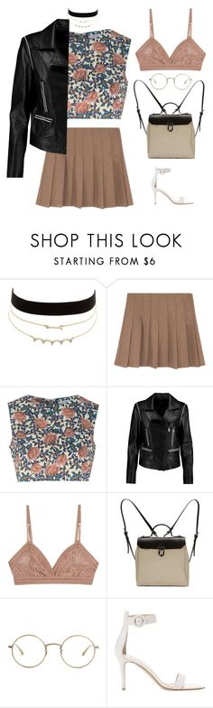 """a lot of things"" by rosy-heart-love ❤ liked on Polyvore featuring Charlotte Russe, Glamorous, DKNY, Lonely, Jam Love, The Row and Gianvito Rossi"