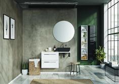 Kwadro Plus Collection na tablicy Bathroom Furniture. Meble Łazienkowe Mirror, Bathroom, Furniture, Design, Home Decor, Green, Washroom, Decoration Home, Room Decor