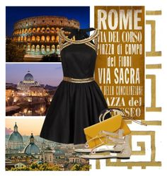 """""""Rome, Italy"""" by parisinblackandwhite ❤ liked on Polyvore featuring The Rug Market, 1Wall, ArteHouse, TOUS, Chi Chi, Fornash and Valextra"""