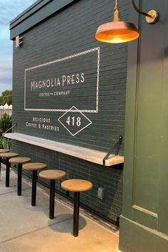 Fixer Upper stars Chip and Joanna Gaines are opening a local coffee shop. Here's everything to know about Magnolia Press, including when its menu and when it opens. Cafe Shop Design, Coffee Shop Interior Design, Coffee Shop Interiors, Small Restaurant Design, Restaurant Interior Design, Chip Et Joanna Gaines, Coffee Shop Bar, Coffee Shop Signage, Cofee Shop