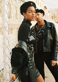 "pocmodels: "" Ebonee Davis & Slick Woods for Billy Magazine "" Afro Punk Fashion, Dolly Fashion, Black Is Beautiful, Looks Rock In Rio, Lollapalooza, Black Girl Magic, Black Girls, Coachella, Skin Girl"