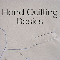 How to Hand Quilt - video - Shiny Happy World Hand Quilting Basics - video tutorial from Shiny Happy World Hand Quilting Patterns, Quilting Tools, Quilting Tutorials, Machine Quilting, Quilting Projects, Sewing Projects, Diy Hand Quilting, Quilting Ideas, Tatting Patterns