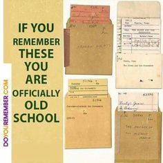 Old School library book checkout cards