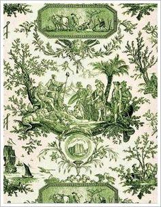 green toile de jouy