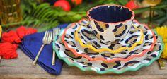 Coton Colors new leopard print dishes!