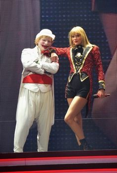 9/21/13 taylor and Ed in his clown suit :)