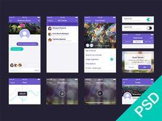 Mobile UI App Design Set - http://www.welovesolo.com/mobile-ui-app-design-set/