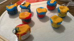 The honey pots for my baby's birthday cake
