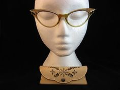 Vintage Cat Eye Glasses / 1960s / Ladies by WildWoodRoseVintage, $75.00
