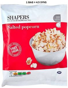 Shapers Salted Popcorn Syns 500 Calorie Meals, Slimming World Syns, 500 Calories, Meal Deal, Cool Boots, Popcorn, Oatmeal, Snack Recipes, Salt