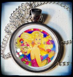 80s BARBIE . Glass Pendant Necklace . 1980s . by girlgamegeek, $11.11
