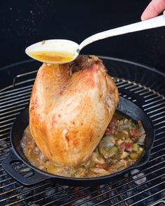 """""""Beer Can"""" Turkey Breast with BBQ Gravy Recipe"""