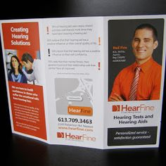 New Hear Fine #brochure explaining our services for #hearingaids and #hearingtests for #Ottawa. #hearingloss #audiology