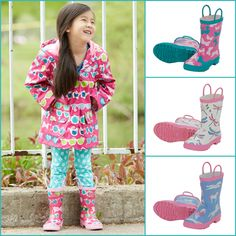 Hatley lined raincoats and rain boots for boys and girls, now available at www.tinysoles.com/hatley!!