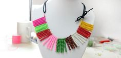 How to Make a Colorful Glass Bead Necklace Using One Basic Beading Skill - Pandahall.com