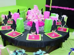 20 Best Pink And Green Party Images Green Party Pink Green Grad
