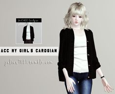 My Sims 3 Blog: Accessory Cardigan for Females by Julie7821