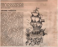 Read about our shops history and how it al started in Amsterdam Tattoo, Sick Tattoo, Old Tattoos, Good Old Times, Tattoo Flash, Traditional Tattoo, Picture Tattoos, Ephemera, Business Cards