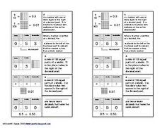 decimal place value foldable for notebook