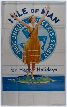 Isle of Man for Happy Holidays Quocunque Jeceris Stabit - Print & Poster Archive - iMuseum