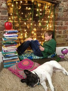 There's nothing better than snuggling up in makeshift nook with a great book.
