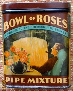 Bowl of Roses vertical pocket tobacco tin. sold