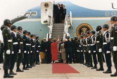 President Reagan and Nancy Reagan departing from Tempelhof airport in West Berlin. 6/12/87. ID #C39908-8. http://www.reagan.utexas.edu/archives/photographs/airforceone.html
